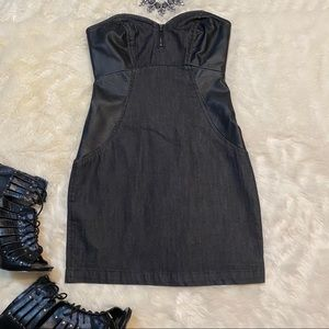 BCBGENERATION Mini Zippy Sweetheart Dress - XS